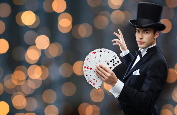 Magic shows, illusionism