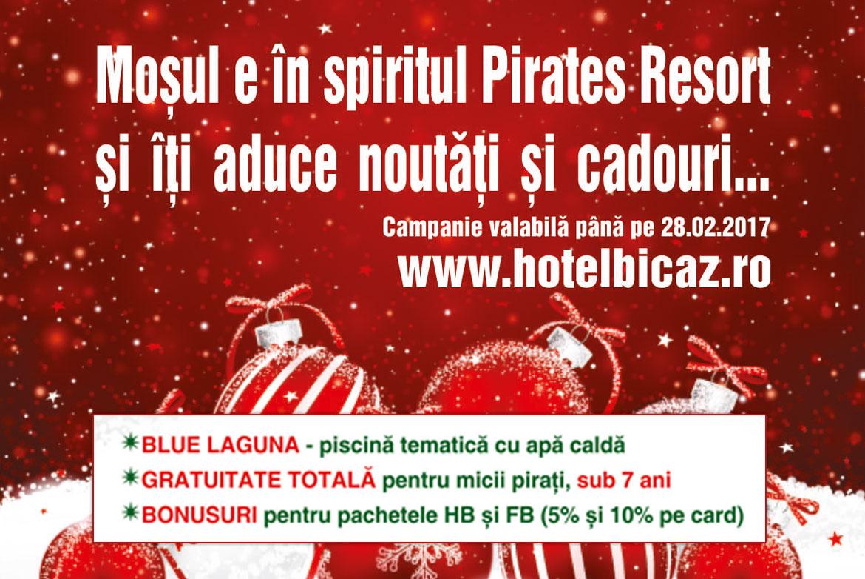 Moșul e în spiritul Pirates Resort și îți aduce noutăți și cadouri ...
